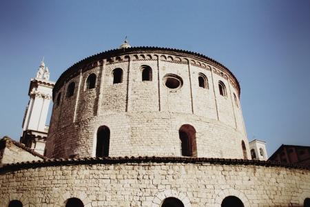 humanistic:  Romanesque church called  La Rotonda  in Brescia, Italy Stock Photo
