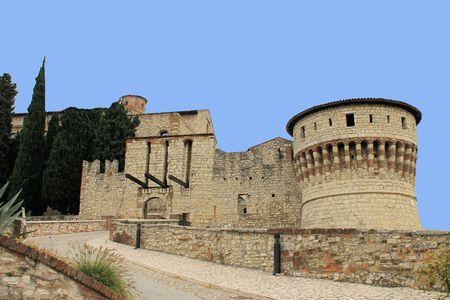 medioeval: Castle of Brescia, Italy