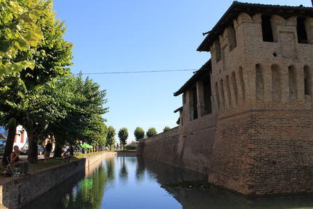 moat castle in northern Italy
