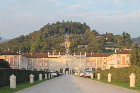 portico: Villa Fenaroli, ancient palace with park  16th-18th century  Editorial