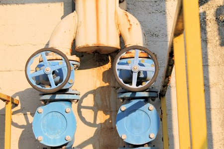 industrial water supply taps photo