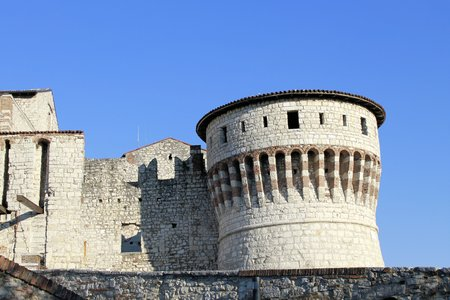 humanistic: tower of the medieval castle  Editorial