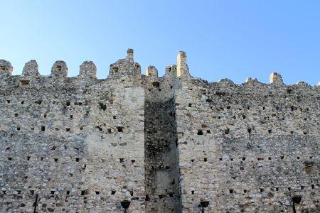 defensive: ancient defensive walls in Manerba, Lake Garda, in northern Italy Stock Photo