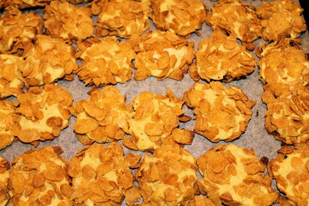 homemade cookies: homemade cookies covered with crunchy cereals