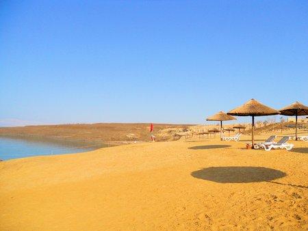 beach on the Dead Sea in Jordan  photo