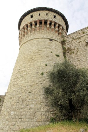 tower of prisoners of the castle of Brescia in Italy a northern photo