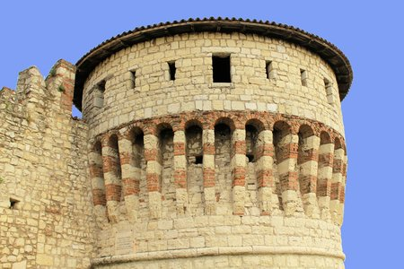 tower of prisoners of the castle of Brescia in Italy a northern