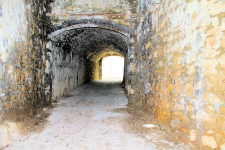 ancient tunnels of the castle in Italy