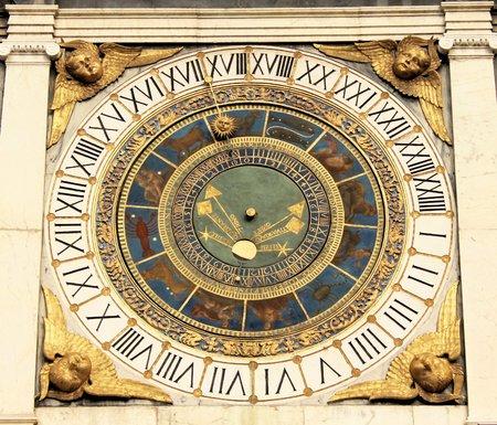 astronomical clock in  Brescia  Lombardy -Italy  photo