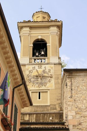 bell tower of a church in northern Italy photo