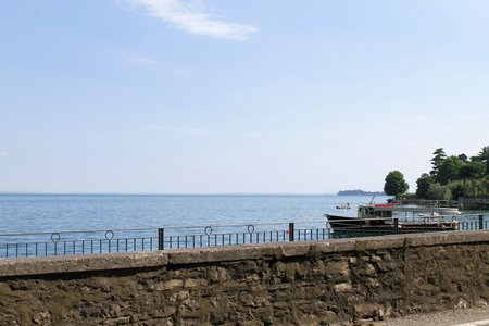 maderno: landscape of the Garda lake in northern Italy Stock Photo