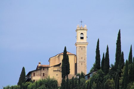 church on the hills in northen italy photo