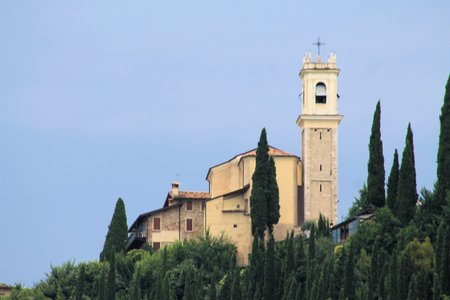 maderno: church on the hills in northen italy Stock Photo