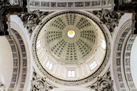interior of cathedral in Brescia in Italy