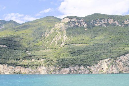 coast of garda lake in Italy photo
