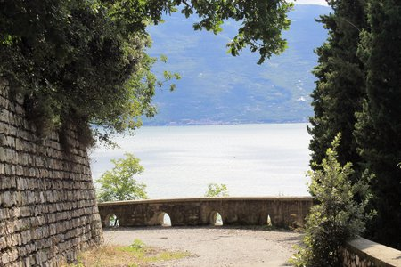 Bicycle track on Garda lake photo