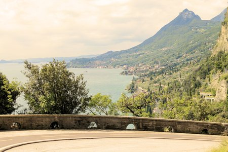cycle track on Garda lake photo