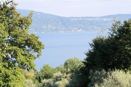 landscape of Garda lake in northern Italy photo
