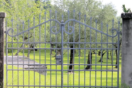iron entrance gate Editorial