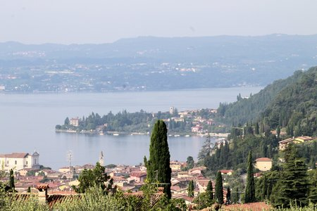 maderno: landscape of  Garda lake in northern Italy Stock Photo