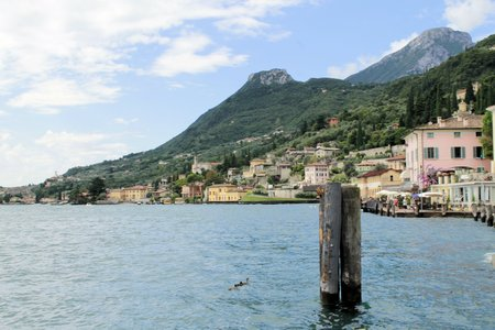 landscape of lake Garda in northern Italy photo