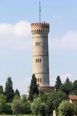 Tower in neo-gothic style of the year 1893 in Italy photo