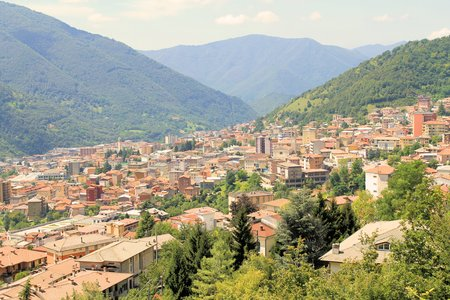 Aerial view of Lumezzane in north Italy
