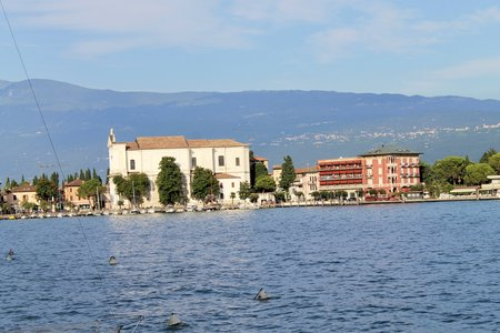 maderno: view of Maderno on Garda lake in Italy Stock Photo