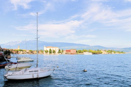 view of Maderno on Garda lake in Italy photo