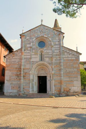 church in Maderno, town on Garda lake in Italy photo