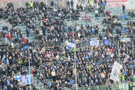 public sector: supporters of the soccer stadium in Italy Editorial