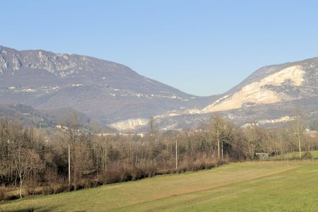 quarries: mountains with marble quarries  in northern Italy