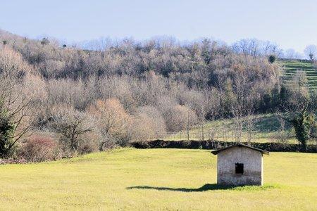 fallow fields in winter photo