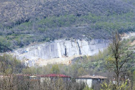 quarries: marble quarries in Botticino in northern Italy