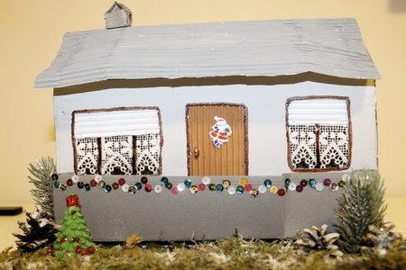 built: model of a small house built by craftsmen