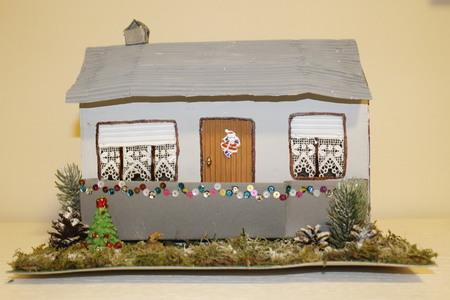 a small house: model of a small house built by craftsmen