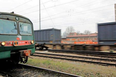 freight train: freight train Stock Photo