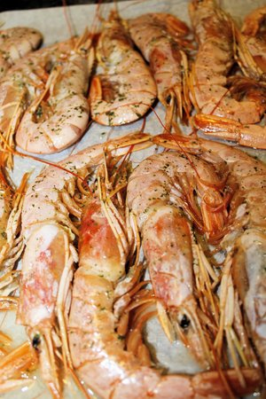 giant: giant prawns Stock Photo