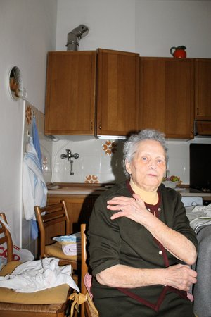 the elderly caregivers: Portrait of a ninety years old grandmother