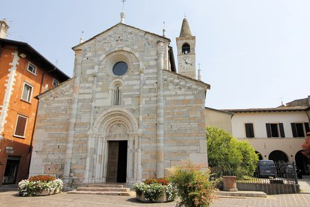 maderno: church in Maderno town on Garda lake in Italy Stock Photo