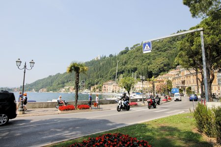 maderno: town of Maderno on Garda lake in northern Italy
