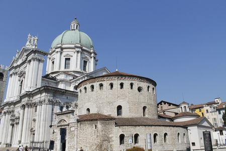 Cathedral in Brescia, city in Italy Stock fotó