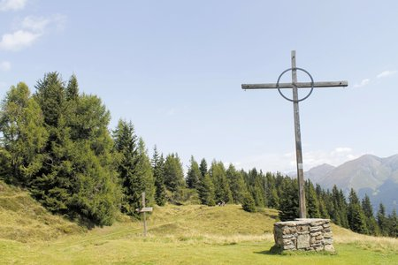 wooden cross on the mountain