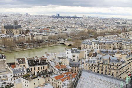 view of the city of Paris Banco de Imagens