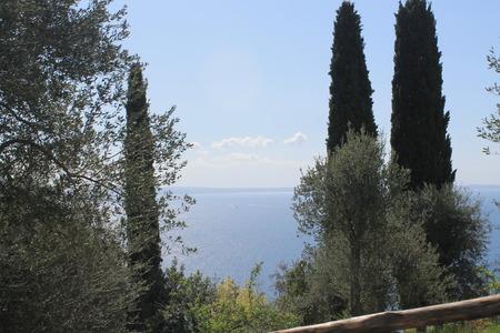 landscape of Garda lake in northern Italy Archivio Fotografico