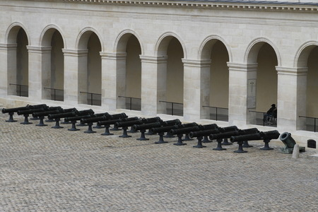 Church of the house of disabled Paris France. Les Invalides is a complex of museums and monuments in the Paris military history of France. tomb of Napoleon Bonaparte