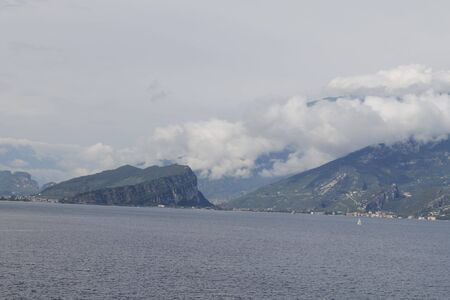view of Garda lake in northern Italy