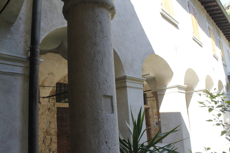 photo of ancient monastery Gargnano, small village on Garda lake in Italy
