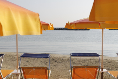Beach on the Adriatic sea in Italy