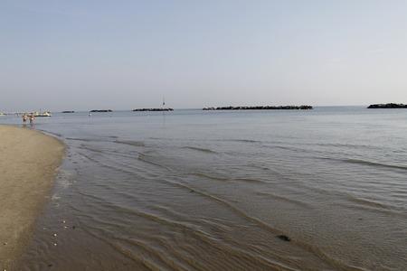 coast of the beach on Adriatic sea in Italy